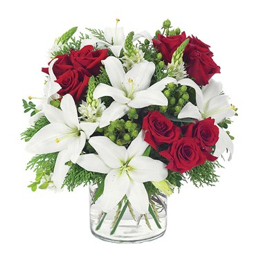 Lovely lily & rose cube for holiday gifts (BF97-11)
